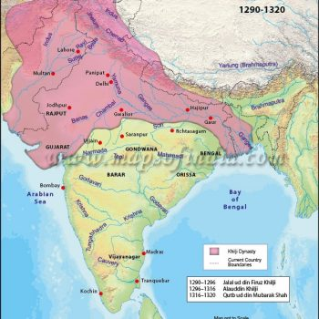 khilji-dynasty-map