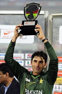 Pakistani cricket team captain Misbah-ul-Haq
